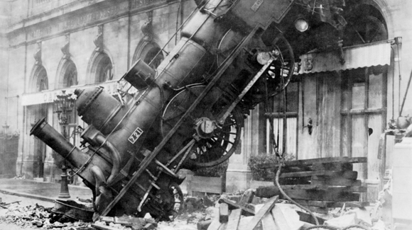 Train wreck at Montparnasse 1895