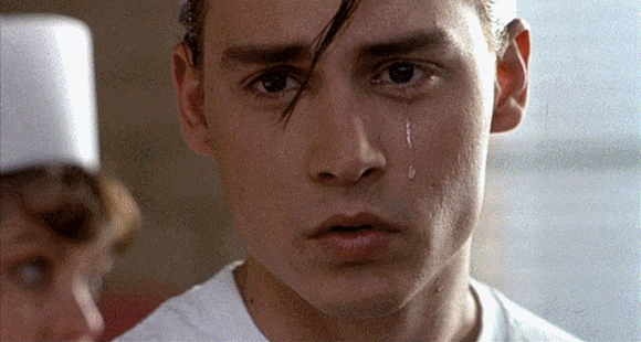 Johnny Depp Crying