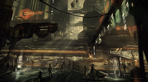 Star Wars 1313 Street Detail by Gustavo Mendonca