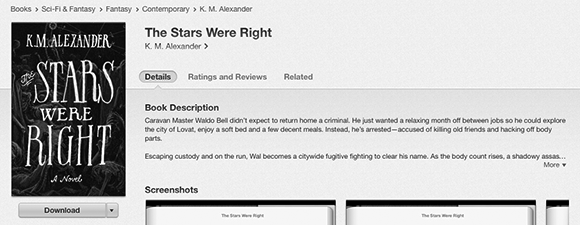 The Stars Were Right is on iBooks