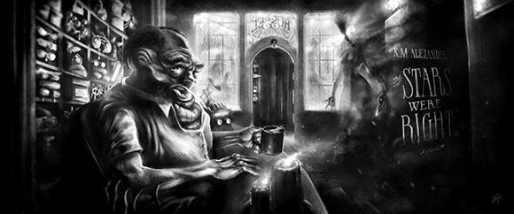 The Shopkeep and the Umbra by Sean Cumiskey
