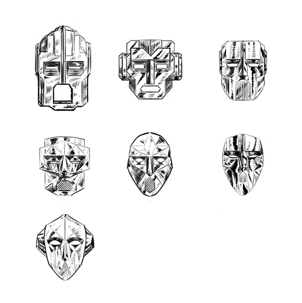 Dauger Masks by Heath Lewis