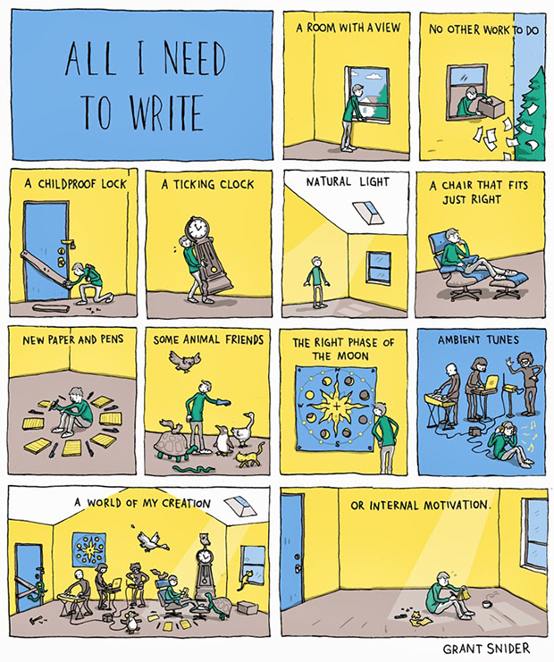 All I Need To Write by Grant Snider