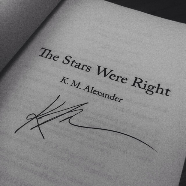 "Signed copy of ""The Stars Were Right"""