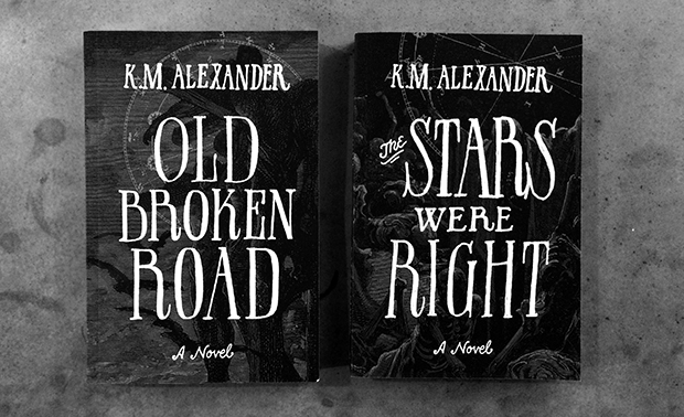 Old Broken Road and The Stars Were Right side by side