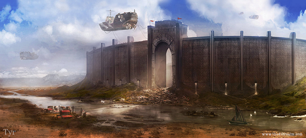 """Tyr City Walls"" by Jordan Grimmer"
