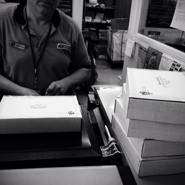Shipping signed copies of #TheStarsWereRight to the giveaway winners!