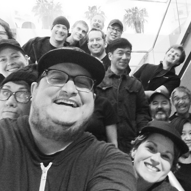 Today (as a surprise) everyone at work came dressed like me. Black teeshirt, jeans, beanie/ball cap. ☺ Feeling pretty loved. Ain't going to lie. Here's a pretty epic selfie from the gathering.