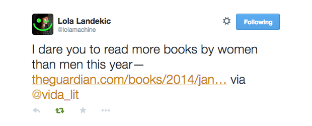 I dare you to read more books by women than men this year