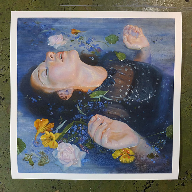 """Ophelia"" 12""x12"" Sign & hand embellished gilcee print. (Edition of 10)"