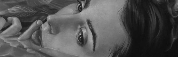 """Shallow"" by Kari-Lise Alexander, 9.25""x11.25"", Oil on panel"