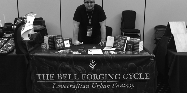 K. M. Alexander's booth at CthulhuCon PDX