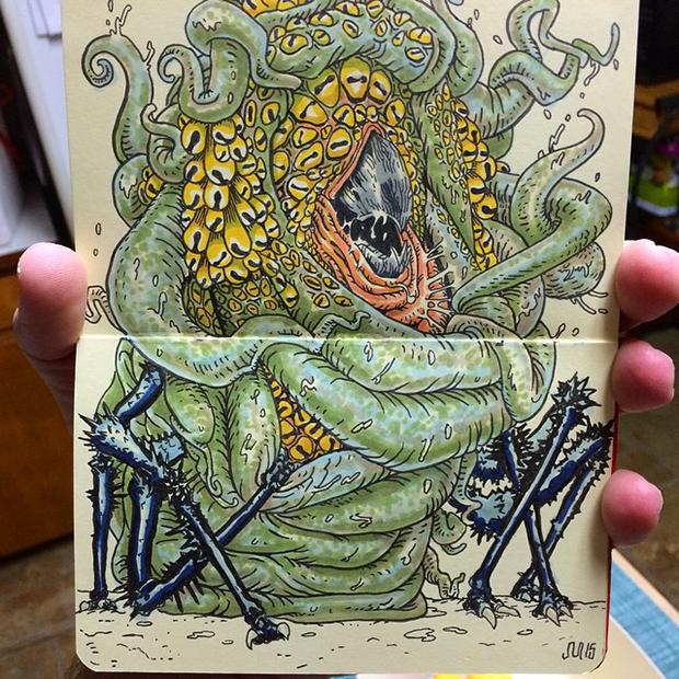 """""""Cybill"""" coloring progress by John Martell"""