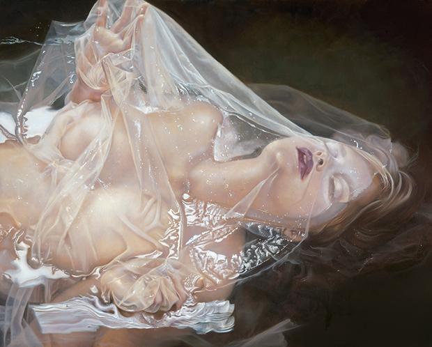 """Kari-Lise Alexander —""""The Reveal"""" 2015, Oil on Panel"""