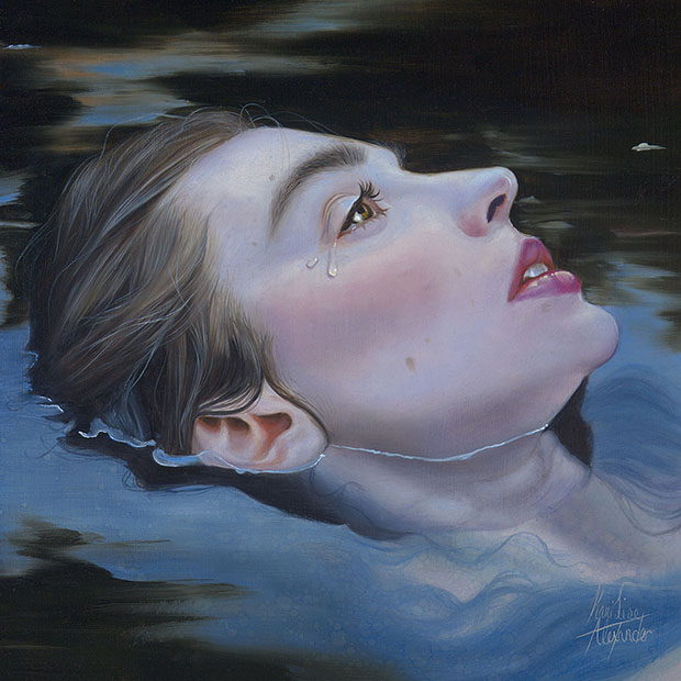 "Kari-Lise Alexander —""Waterborne"" 2015, Oil on Panel"