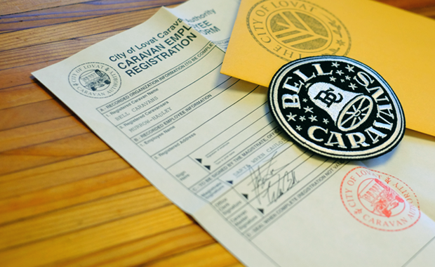 Bell Caravans Patch with Included Employee Registration Form