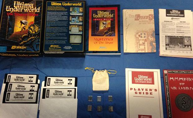 Feelies included with Origin's Ultima Underworld: The Stygian Abyss