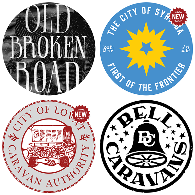 Old Broken Road Stickers - Click here to purchase a signed paperback copy!