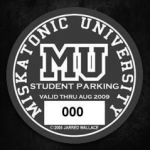 Miskatonic University Parking Permit
