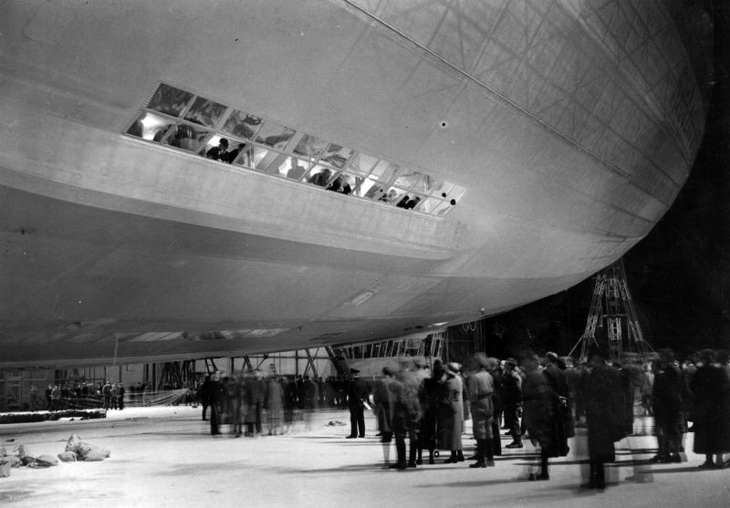 Passengers Gathering Outside The LZ 129 Hindenburg.