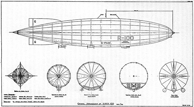 Plans of the R100