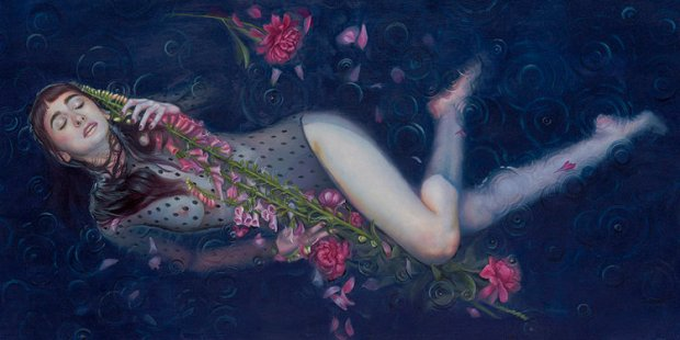 "Kari-Lise Alexander ""The Arrow"" 24""x12"", Oil on Panel"