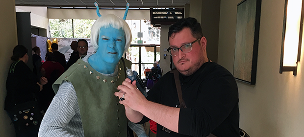 K. M. Alexander and an Andorian