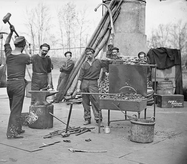 Blacksmiths on the USS Lehigh