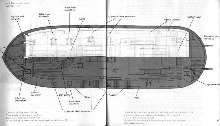 Internal arrangement of the USS Cairo