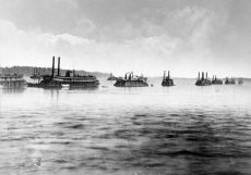 The Mississippi River Fleet outside Mound City, IL