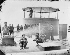 Sailors on Deck of U.S.S. Monitor - James River, VA