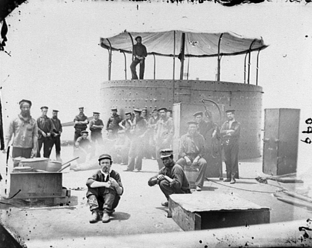 Sailors on Deck of U.S.S. Monitor - James River, VA