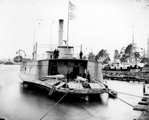 USS Commodore Perry, a Ferryboat Converted into a Gunboat on the Pamunkey River, VA, 1864