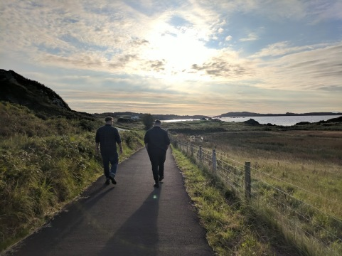 Walking towards Laphroaig