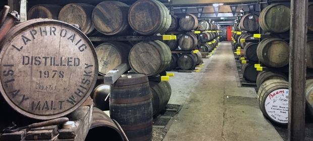 Inside the Laphroaig Distillery