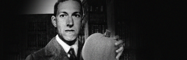 H.P. Lovecraft and his pumpkin pal