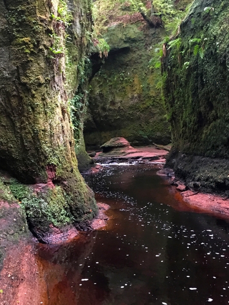 The Devil's Pulpit in Finnich's Glen