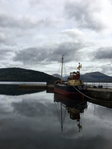The Vital Spark moored at Inveraray