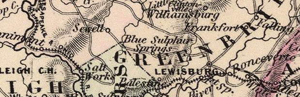 Virginia, Delaware, Maryland, and West Virginia (Detail), A. J. Johnson, 1886