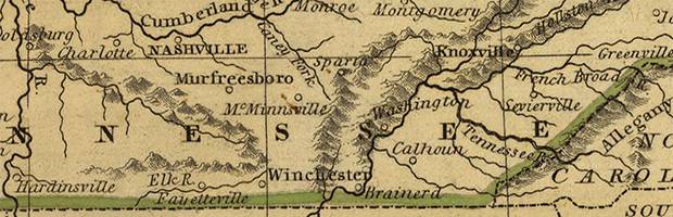 Map of the Western State (Detail), Daniel Adams, 1832