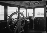 Pilothouse of the Str. Eureka, a sidewheel ferry