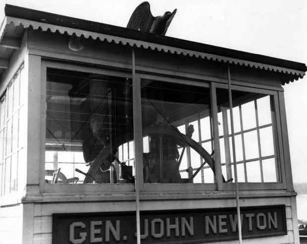 View of the pilothouse of the Str. General John Newton