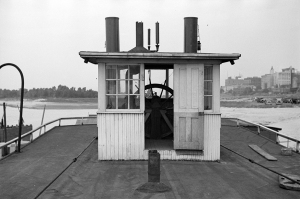 Pilothouse of an Unknown Steamer