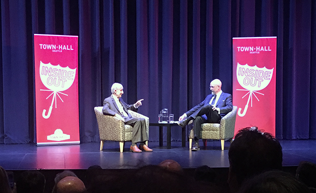 Freeman Dyson and Neal Stephenson at Town Hall Seattle