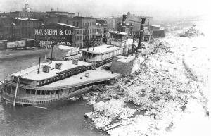 Str. City of Cincinnati - winter flood wreck, 1918