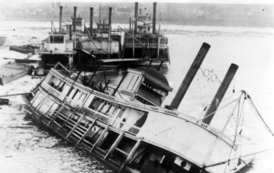 Way's Packet Directory lists four boats named the Jewel, best guess is the Str. Jewel cut down by ice in Mt. Vernon, IN on January 1918