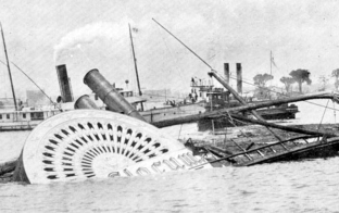 PS General Slocum - On June 15, 1904, General Slocum caught fire and sank in the East River of New York City. An estimated 1,021 people died—New York area's worst disaster in terms of loss of life until the September 11, 2001 attacks