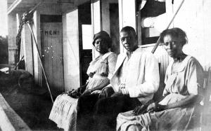 Passengers on main deck of the Str. M.T. Bryan