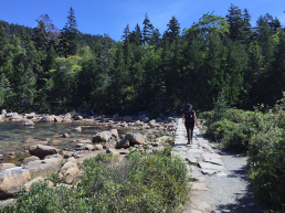 Kari-Lise on the Pemetic Mountain trail
