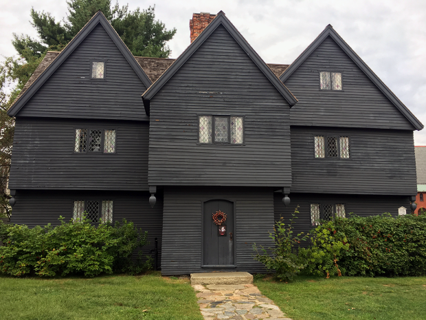 The Witch House in Salem, MA — once the former home of Judge Jonathan Corwin and the only building with ties to the trials still standing